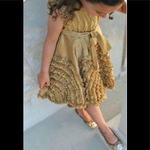 Meli Meli Stunning Ruffle Twirl Dress Size 4-5 👗